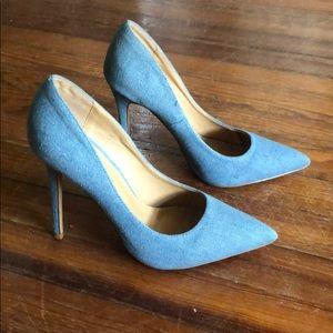 Blue heels 9